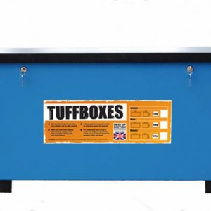 Front Picture of Tuffbox with fork feet attached