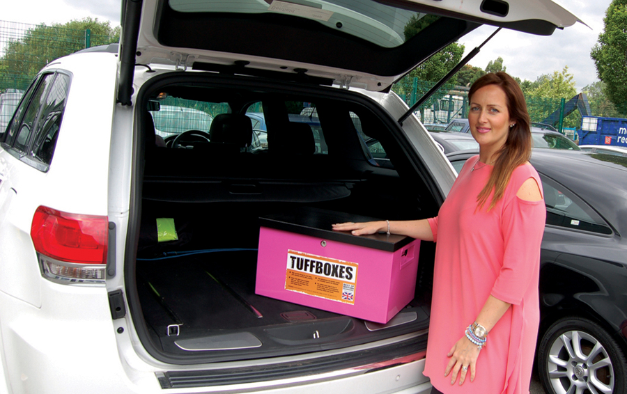 Managing Director Emma Gilligan with the new Micro Tuffboxes